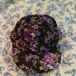 Floral American apparel hat